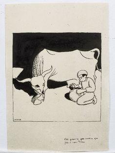 """Exposiciones: """"Castelao. Debuxos do álbum Cousas da vida...."""