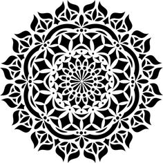 Delicate Floral Wall Stencil Designer Stencils Asana Mandala Stencil The Home Depot for ucwords] # Mandala Tattoo Design, Mandala Arm Tattoo, Stencil Fabric, Stencil Painting, Fabric Painting, Stenciling, Mandalas Painting, Mandalas Drawing, Folk Embroidery