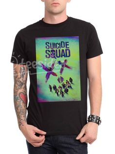 Suicide Squad Unisex Adult T Shirt - Get 10% Off!!! - Use Coupon Code 'TEES10'