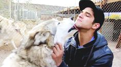 Tyler Posey bonding with his kind
