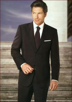 SKU#PN_A25 Authentic Real Brand New With Tags Statement Suit Plain Front Black $175
