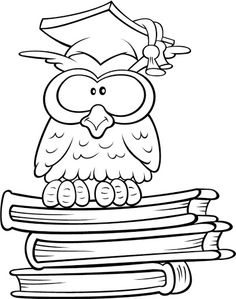 drawings of owls Owl Coloring Pages, Disney Coloring Pages, Coloring Books, Fall Classroom Decorations, Owl Pictures, Decorate Notebook, Congratulations Card, Chalk Art, Digital Stamps