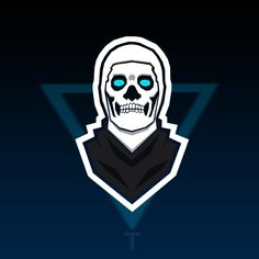 fortnite skull trooper mascot logo wallpaper background skin logo youtube logo epic games fortnite - cool fortnite logo background