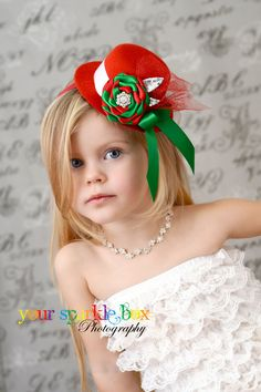 Items similar to White Christmas Peppermint Dream mini top hat headband on Etsy Christmas Photo Booth, Christmas Minis, Christmas Crafts, Christmas Decorations, Kids Headbands, Christmas Headbands, Holiday Hats, Bridal Hair Flowers, Fancy Hats