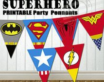 INSTANT DOWNLOAD Superhero Party Banner Super hero Party Banner Super hero Birthday Banner Superhero Birthday Banner Superhero Banner