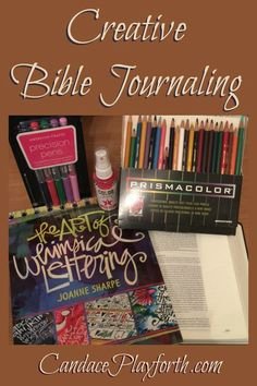 Creative Bible Journaling: Check out these fun, easy examples of creating art in your Bible while strengthening your faith and memorizing the Word. Includes a Bible journal supply list for beginners. This would be a great kid's activity too!