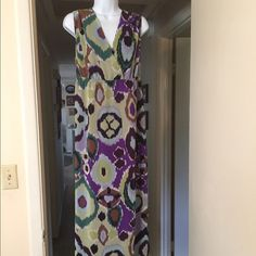 Chicos maxi dress Chicos maxi dress, size 15, very flowing, multicolored, fully lined so you want me to slip. Lightweight. Chico's Dresses Maxi
