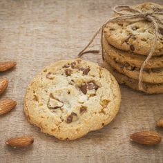 Cookies al cioccolato e mandorle