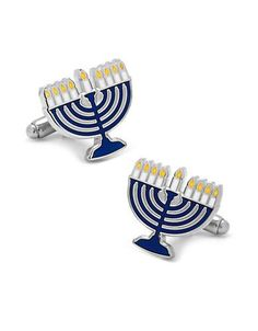 Cufflinks Menorah Cufflinks Men's Blue