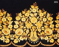 Refajo labor huertana, ramaje de flores, en negro y tonos variados de amarillo y ocres. Murcia, Bordado Popular, Labor, Embroidery Designs, Animals, Regional, Couture, Google, Folklore