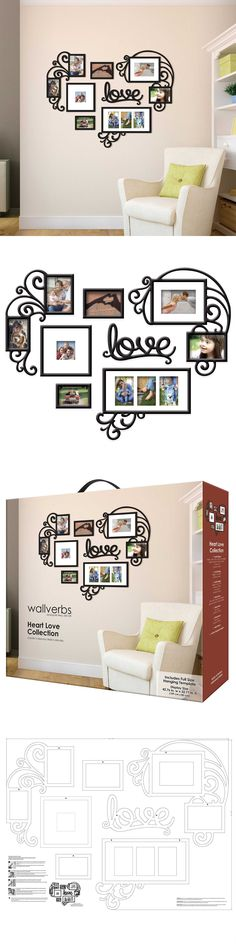 Frames 79654: Heart Love Collage Photo Picture Frame Set Black Wall Art Decoration Home Decor -> BUY IT NOW ONLY: $68.5 on eBay!