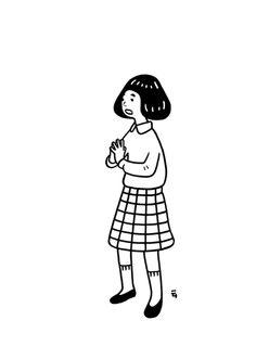 this isn't happiness™ (Nimura Daisuke), Peteski Japanese Illustration, Line Illustration, Graphic Design Illustration, Digital Illustration, Gifs, Character Drawing, Character Design, Artwork Images, Cool Animations