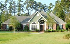 Floor Plan + Virtual Tour + Photo Gallery + Back to Other Plans + The Townsend was designed with family in mind. This open floor plan features a large island snack bar which serves as the centerpiece of the kitchen… Acadian Homes, Acadian House Plans, Fiberglass Columns, Townsend Homes, Louisiana Homes, Southern Style, Gazebo, Outdoor Structures, Exterior
