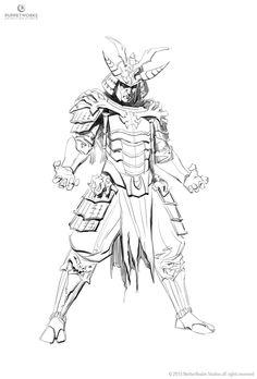ArtStation - Samurai Shinnok, Aron Elekes