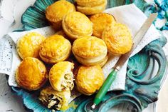 A splash of white wine makes the chicken filling of these flaky pastries extra flavoursome.