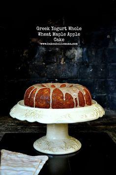Apple Maple Cake made with whole wheat flour and Greek yogrut