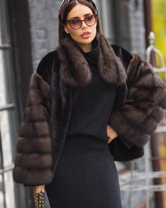 Nadire Atas on Fashionista At Large Fur Fashion, High Fashion, Fashion Outfits, Womens Fashion, Coat Outfit, Coat Dress, Fabulous Furs, Fur Jacket, Coats For Women