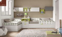 70 Good Bedroom Ideas for Your Twins that Make Your Children Happy - Page 28 of 65 Small Shared Bedroom, Shared Boys Rooms, Kids Room Bed, Toddler Room Decor, Boy Girl Bedroom, Girl Room, Corner Twin Beds, Kids Bedroom Designs, Bedroom Decor