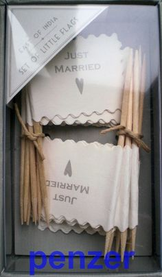 EAST OF INDIA Just Married MINI WEDDING FLAGS