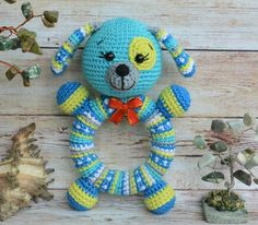 Crochet Baby Toys, Crochet Home, Crochet Animals, Crochet For Kids, Crochet Dolls, Baby Knitting, Amigurumi Patterns, Crochet Patterns, Crochet Wreath