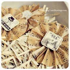 paper rosettes | These paper rosettes/pinwheels are nice for smaller packages (see ...