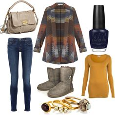 comfy winter outfit-- I really really need that sweater