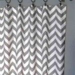 grey chevron curtains for Henry's room