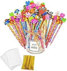 JZK 50 x Wooden graphite pencils set with cartoon rubber erasers for kids children party favours give away thank you gift party bag filler birthday Christmas gift for boys girls Christmas Gifts For Boys, Party Bag Fillers, Party Favors, Favours, Thank You Gifts, Birthday Candles, Sprinkles, Boy Or Girl, Pencil