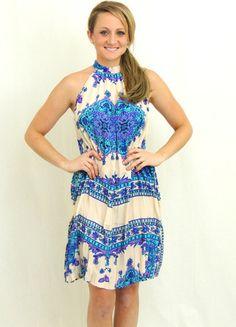 Babylon Mirrored Paisley Print Dress  - Ivory