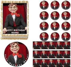 GOOSEBUMPS SLAPPY Dummy Doll Edible Cake Topper Image Frosting Sheet Cake in Home & Garden,Kitchen, Dining & Bar,Cake, Candy & Pastry Tools | eBay