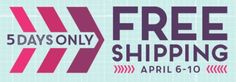 HandStampedStyle offering Stampin' Up! 5 DAYS ONLY FREE SHIPPING 4/6-10th, CLICK HERE TO SHOP ONLINE NOW with HSS & Stampin' Up!
