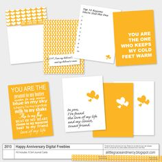 Free Happy Anniversary Journal Cards for Project Life