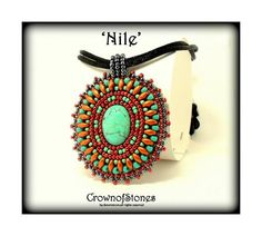 Bead pattern PDF Bead Embroidery Pendant Nile by CrownofStones