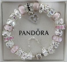 1 Authentic Pandora Bracelet (all sizes available), 1 Authentic Pandora Gift Box, 1 Receipt (for Bracelet) ALL beads/charms shown in photo,