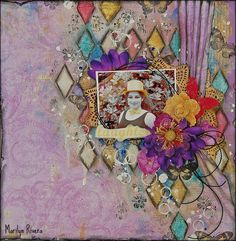 Marilyn Rivera- Scrap Around The World- October Moodboard using the October Special Delivery kit by Prima Marketing.