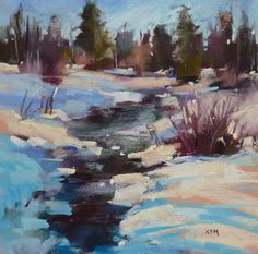 Karen Margulis Painting my World: Painting Shadows on Snow with my New Pastels