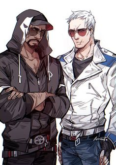 Soldier76 and Reaper