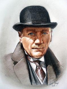 Pastel Atatürk Portresi, Ressam Rukiye Garip