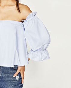 Image 6 of TOP WITH OFF-THE-SHOULDER NECKLINE from Zara