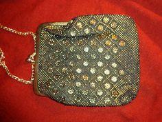 Vintage Handtaschen - Tasche*gold*schwarz*Glamour* - ein Designerstück von SweetSweetVintage bei DaWanda