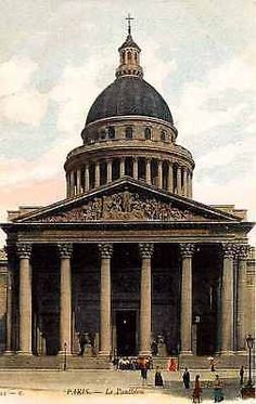 Paris France 1904 Pantheon Church Civic Temple Antique Vintage Postcard