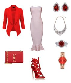 """""""Untitled #45"""" by claudia9797 on Polyvore featuring Giuseppe Zanotti, LE3NO, Yves Saint Laurent, Marc by Marc Jacobs, BillyTheTree and BERRICLE"""