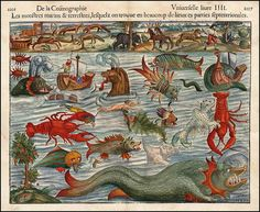 1550 Map of terrifying monsters