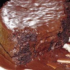 Chocolate Pudding Fudge Cake Allrecipes.com  What man could resist?
