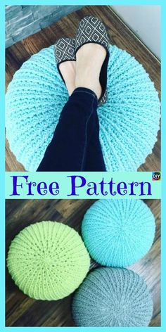 Cozy Crochet Floor Pouf Free Pattern Diy 4 Ever In Cozy Crochet Floor Pouf Free Pattern Click below link for Crochet Home, Crochet Gifts, Crochet Yarn, Free Crochet, Chunky Crochet, Crochet Pouf Pattern, Crochet Cushions, Knitting Patterns, Crochet Patterns