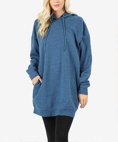 Look what I found on #zulily! Blue Mist Oversize Hooded Sweatshirt Tunic - Plus #zulilyfinds