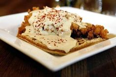 The East Bay's Top Chicken and Waffles, Ranked   7x7...  been to Brown Sugar Kitchen, now I want to try the other 4 restaurants listed here.  1) 900 Grayson--Small, packed & expensive but the best chicken & waffles, 2) Lois the Pie Queen in Emeryville--amazing fried chicken & biscuits, 3) Stella Nonna-- with Bar, 1407 San Pablo, Berk, and 4) Terrace Room w/view of Lake Merritt--1800 Madison St.