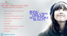 CMC #Mohali :- #Skin  #Cosmetology #clinic.  Services Available :-  1. #Laserhair removal for unwanted #hair 2. #allergy testing 3. #chemical #peels 4. #dermaroller 5. #scar #poison Any many more. Book your appointment Call us now :- 98154-00070