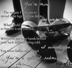 Submit by C.D. Reiss (Songs of Submission #3)...made by Ashley