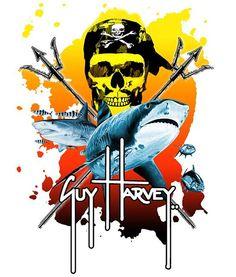 Guy Harvey Neptune Sticker Dodgers Gear, Big Bertha, Vinyl Cutter, Batman, Stickers, Superhero, Guys, Sharks, Wallpaper